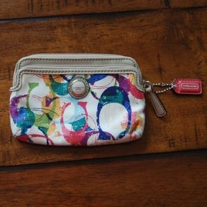 Coach coin purse/mini wallet